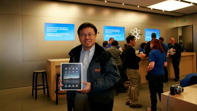 iPad開售日(2010.04.03)@美國三藩市矽谷蘋果商店